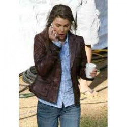 Bedtime Stories Keri Russell Brown Leather Jacket